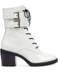 Nine West Fynndelle Lace Up Booties - White