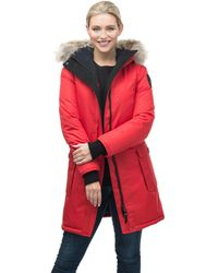 Nobis Abby Ladies Thigh Length Parka - Red