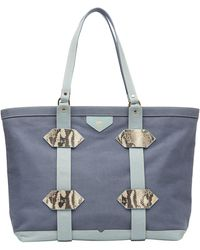 Kelly Wynne Water Resistant Out Of Town Tote - Blue