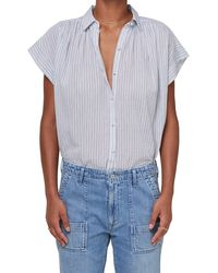 Citizens of Humanity - Penny Cloud Stripe Blouse - Lyst