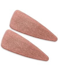 Valet Studio Gia 2-pack Hair Clips, Pink