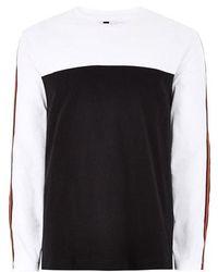 TOPMAN - Skater Taped Oversized Long Sleeve T-shirt - Lyst