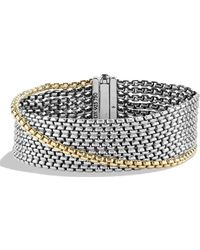 David Yurman - Chain Box Chain Eight-row Bracelet With Gold - Lyst
