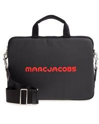 Marc Jacobs Logo 13-inch Computer Commuter Case - Black