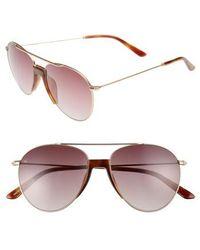 Smoke X Mirrors - Fortunate Son 55mm Gradient Lens Aviator Sunglasses - - Lyst