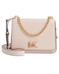 9bd6e4dd625 MICHAEL Michael Kors - Large Mott Chain Swag Leather Shoulder Bag - - Lyst