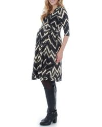 Everly Grey - Mila Wrap Maternity/nursing Dress - Lyst