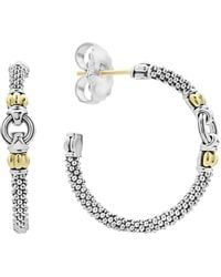 Lagos - Caviar Link Hoop Earrings - Lyst