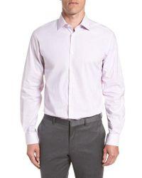 John Varvatos - Stripe Regular Fit Dress Shirt - Lyst