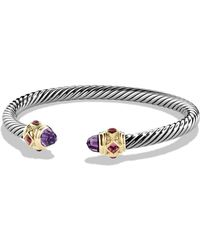 David Yurman - Renaissance Bracelet With Amethyst And Gold - Lyst