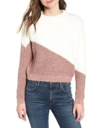 Bishop + Young - Diagonal Colorblock Sweater - Lyst