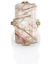 Maniamania - Phenomena Quartz And Diamond Cocktail Ring - Lyst