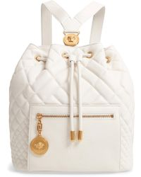 Versace - Quilted Leather Drawstring Backpack - - Lyst