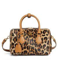 f5fbdcff46d3c6 MCM - Small Boston Leopard Calf Hair Bowler Bag - - Lyst