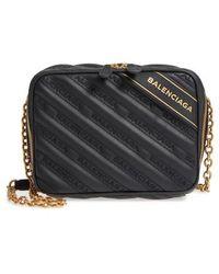 Balenciaga - Extra Small Blanket Reporter Crossbody Bag - Lyst