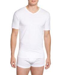 Calvin Klein   2-pack Stretch Cotton T-shirt, White   Lyst