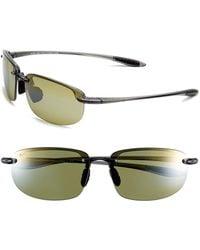 Maui Jim - 'ho'okipa - Polarizedplus2' 63mm Sunglasses - Smoke Grey/ Maui Ht - Lyst
