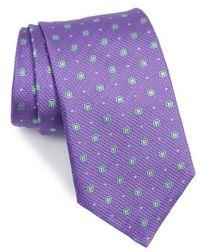 David Donahue - Neat Medallion Silk Tie - Lyst