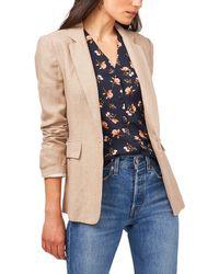 1.STATE One-button Linen Blazer - Natural