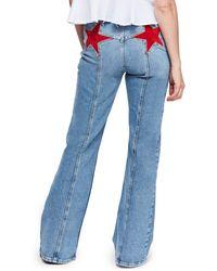Free People Firecracker Flare Jeans - Blue