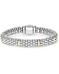 Lagos Caviar Rope Bracelet - Metallic