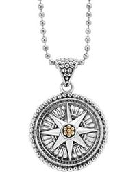 Lagos - Signature Caviar Compass Pendant Necklace - Lyst