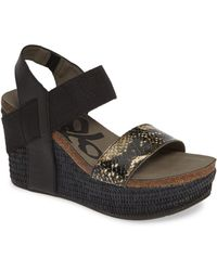 Otbt 'bushnell' Wedge Sandal - Black