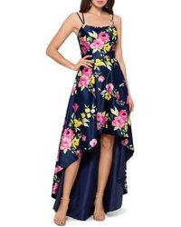 Xscape - Floral High/low Gown - Lyst