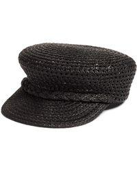 Eric Javits Capitan Squishee Cap - Black