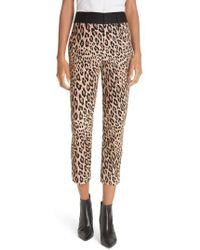 FRAME - Cheetah Print Tuxedo Pants - Lyst