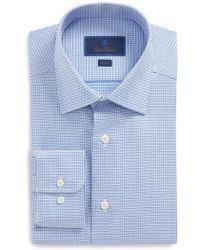 David Donahue - Slim Fit Geometric Dress Shirt - Lyst