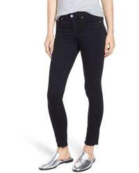 Rag & Bone - Raw Hem Ankle Skinny Jeans - Lyst