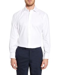 David Donahue - Regular Fit Oxford Cotton Dress Shirt - Lyst