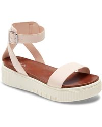 MIA Lunna Platform Ankle Strap Sandal - Pink