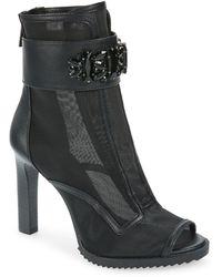Karl Lagerfeld Blayze Peep Toe Bootie - Black
