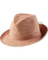 Helen Kaminski - Raffia Crochet Packable Sun Hat - Lyst 43ecf8510a41