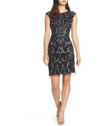 Pisarro Nights - Beaded & Embroidered Cocktail Dress - Lyst