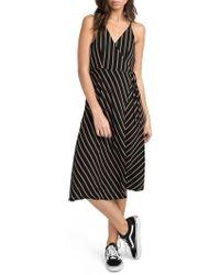 RVCA | Dat Stripe Wrap Dress | Lyst