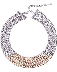 Nakamol - Two Tone Collar Necklace - Lyst