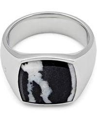 Tom Wood - Women's Zebra Marble Cushion Signet Ring - Lyst