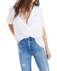 Madewell Courier Cotton Shirt - White