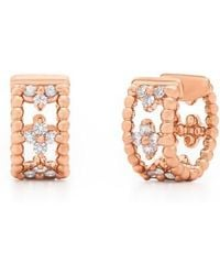 Kwiat - Diamond Hoop Earrings - Lyst