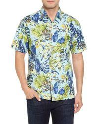 Tommy Bahama - Riviera Garden Standard Fit Silk Blend Camp Shirt - Lyst