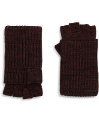 AllSaints Twisted Knit Fingerless Gloves - Black