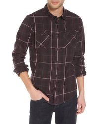 RVCA | Treets Plaid Flannel Shirt | Lyst