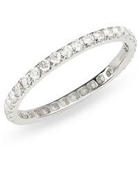 Bony Levy Audrey Diamond Eternity Ring (nordstrom Exclusive) - Metallic