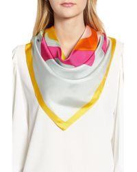 Tory Burch - Colorblock Logo Silk Scarf - Lyst