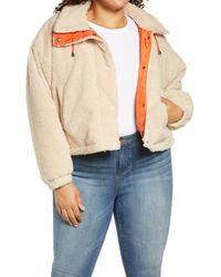 BP. Neon Baby High Pile Faux Fur Jacket - Multicolor
