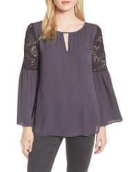 Chelsea28 - Lace Bell Sleeve Top - Lyst