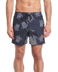 Vilebrequin - Moorea Sharkskin Turtles Print Swim Trunks - Lyst